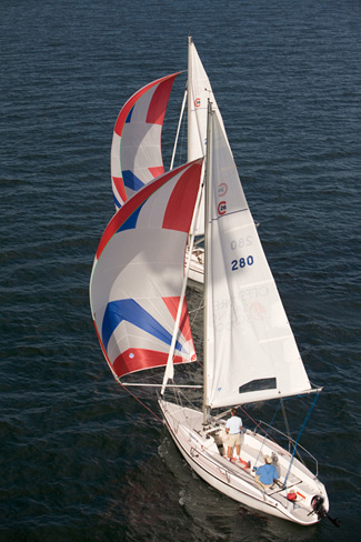 Colage 26 Sailboat Aerial