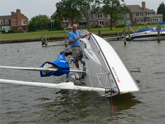 Colage 26 Sailboat Swamping Test